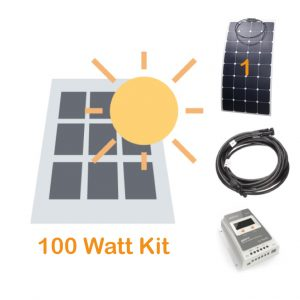 100 watt solar panel kit for boating