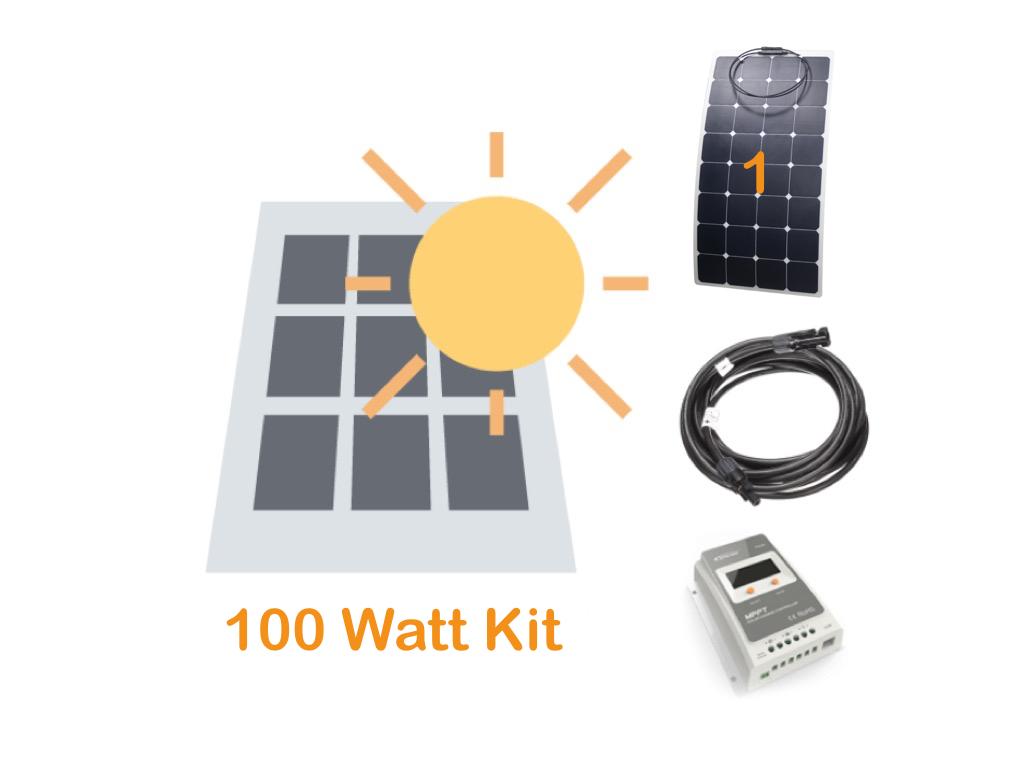 100 watt solar panel kit for boating