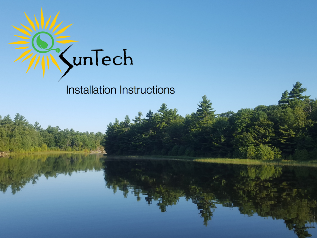 suntech solar installation instructions