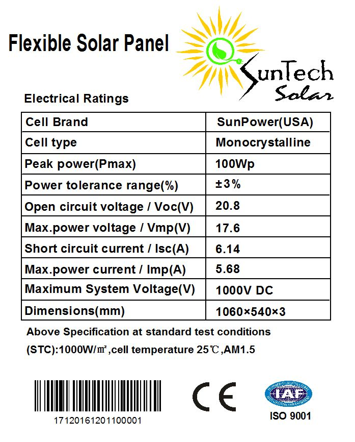 SunTech Solar 110 Watt Kit